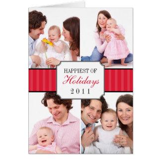 Foto listrada vermelha do Natal da banda da colage Cartões