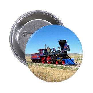 Foto locomotiva do trem do motor de vapor bóton redondo 5.08cm