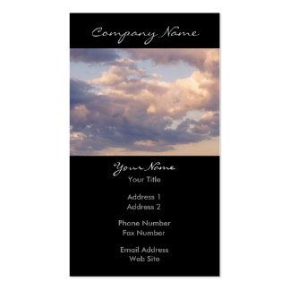 Foto macia dos céus cartão de visita