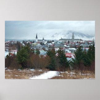 Foto majestosa de Reykjavik Posters