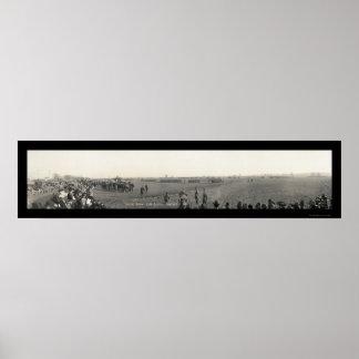 Foto militar 1917 de Custer da revisão Posters