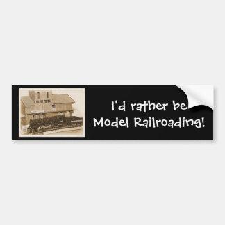 Foto modelo antiquado do trem adesivo para carro