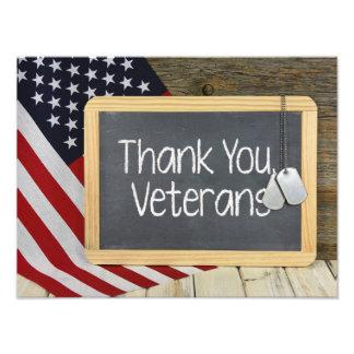 Foto Obrigado sinal dos veteranos no quadro