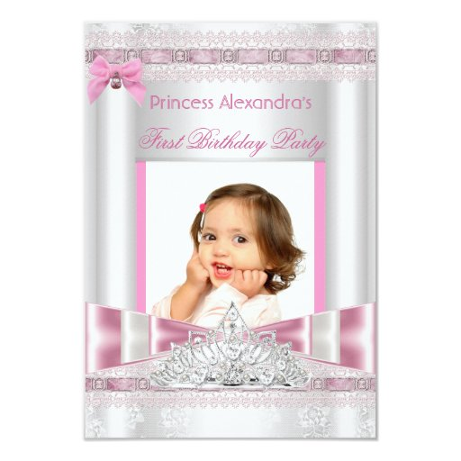 Foto pequena da festa de aniversário da princesa convite personalizados