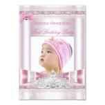 Foto pequena da festa de aniversário da princesa convites personalizados