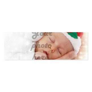 Foto personalizada cartão de visita skinny