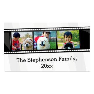 foto personalizada tira do filme 3-Photo Cartão De Visita