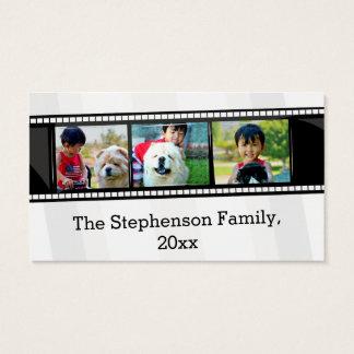 foto personalizada tira do filme 3-Photo Cartão De Visitas