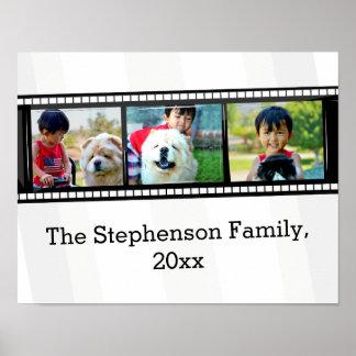 foto personalizada tira do filme 3-Photo Posters