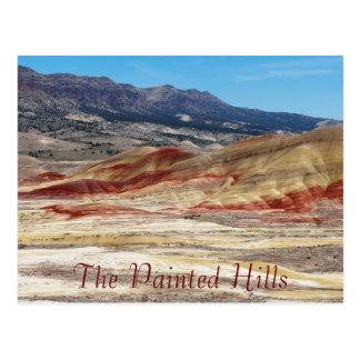 Foto pintada cénico do viagem das colinas cartão postal