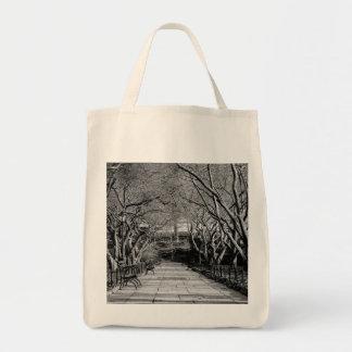 Foto preta & branca do Central Park da paisagem Bolsas Para Compras