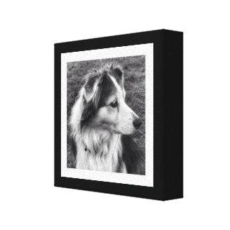 Foto preto e branco corajosa de Instagram Impressão Em Tela