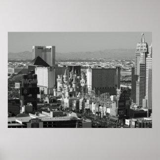 Foto preto e branco de Las Vegas Poster