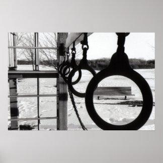 Foto preto e branco poster