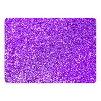 Foto roxa do brilho do falso cartão de visita grande