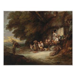 Foto Thomas Gainsborough - a porta da casa de campo