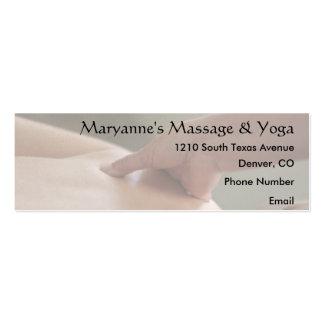Foto traseira da massagem - polegar cartão de visita skinny
