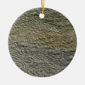 Fotografia abstrata da água da natureza das ornamento de cerâmica redondo