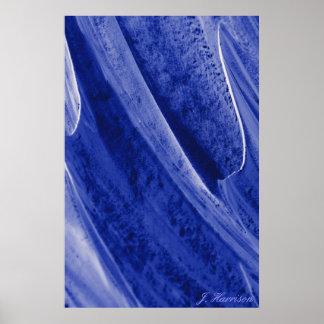 Fotografia azul do abstrato do macro de Mts Posters