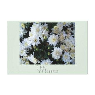 Fotografia branca 2 da natureza da arte da flor impressão de canvas envolvidas