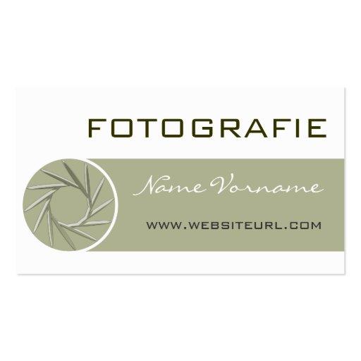 Fotografia Cartão De Visita