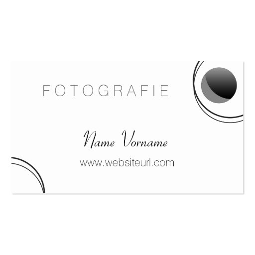 Fotografia Modelos Cartão De Visita