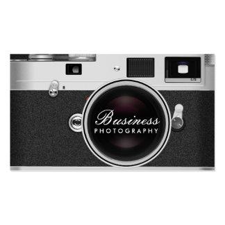 Fotografia clássica da câmera do fotógrafo cartão de visita