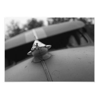 Fotografia clássica do carro, preto e branco