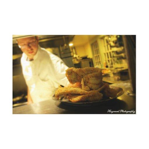 Fotografia da comida das canvas impressão de canvas envolvida