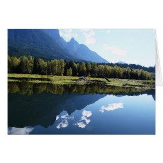 Fotografia da paisagem da natureza das reflexões cartão comemorativo