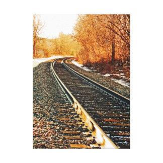 Fotografia da trilha do trem impressão em tela