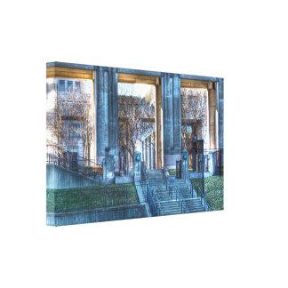 Fotografia de HDR - caminhada do canal de Indianap Impressão De Canvas Envolvida