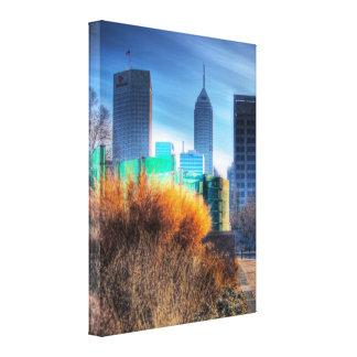 Fotografia de HDR - caminhada do canal de Indianap Impressão Em Canvas