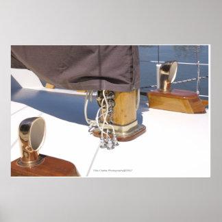 Fotografia de madeira do barco posteres
