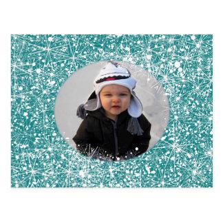 Fotografia do floco de neve cartão postal