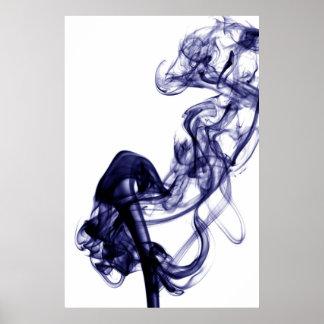 Fotografia do fumo - poster azul