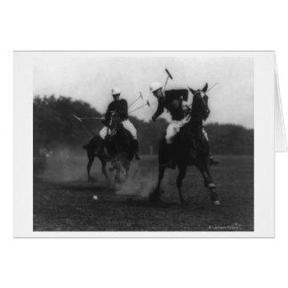 Fotografia do jogo da associação do polo do depart cartao