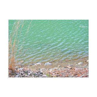 Fotografia do lago impressão de canvas envolvidas
