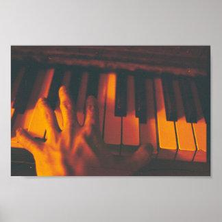 Fotografia do piano poster