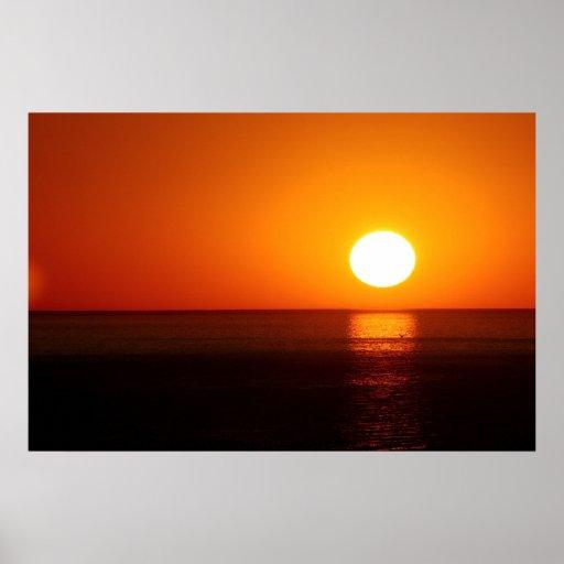 Fotografia do por do sol poster