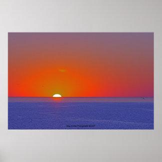 Fotografia do por do sol posteres