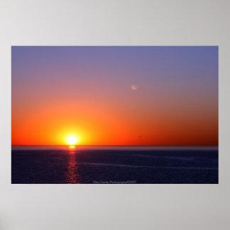 Fotografia do por do sol pôsteres