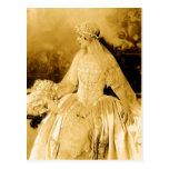 Fotografia dourada da noiva do vintage cartoes postais