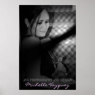 Fotografia e design do retrato AVG dos fotógrafo Pôster