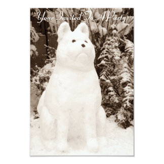 fotografia engraçada do Natal do boneco de neve de Convite 8.89 X 12.7cm