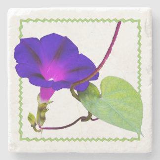 Fotografia floral da corriola roxa cortada porta copos de pedras