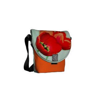 Fotografia floral do estilo do bokeh do verde da h bolsas mensageiro