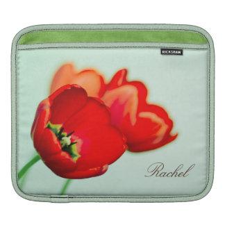 Fotografia floral do estilo do bokeh do verde da h bolsas de iPad