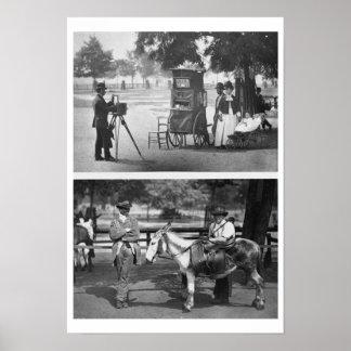 Fotografia na terra comum e no aluguer de espera,  impressão