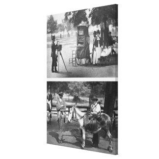 Fotografia na terra comum e no aluguer de espera,  impressão de canvas esticadas